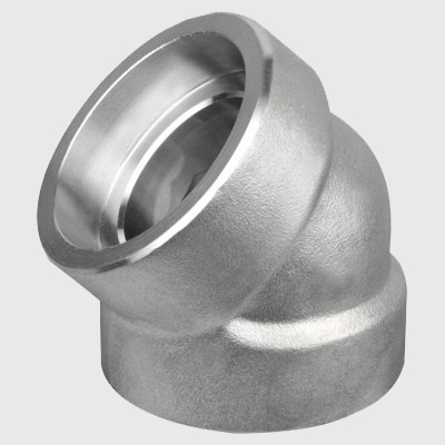 Duplex Steel Socket Weld  Elbow 45D